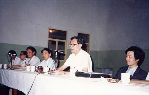北京市原副市长陆禹在本院举办的学术研讨会上讲话